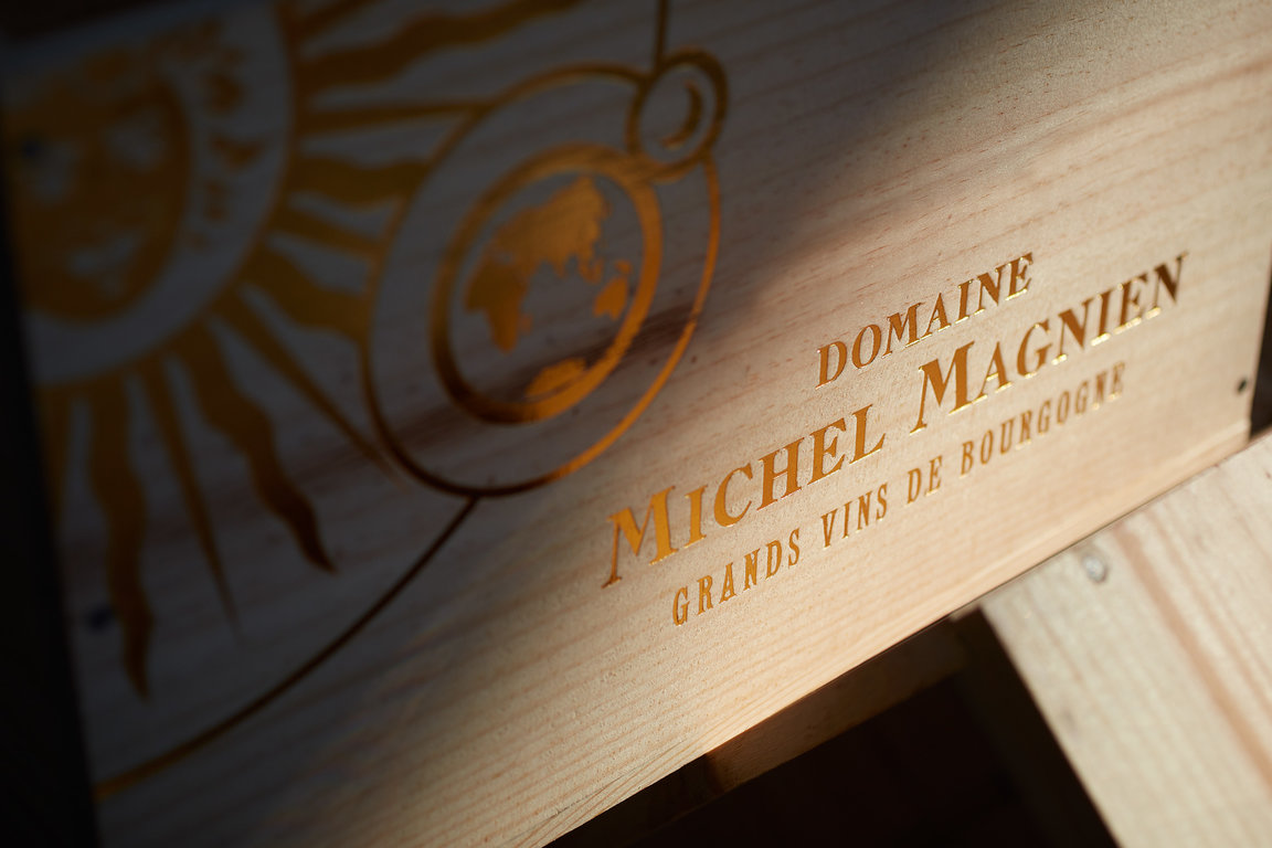Wooden box at Domaine Michel Magnien