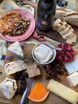 Wine Lover's Gift Guide: 9 Cheeses in a Cheese Grotto Paired with Michel Magnien Biodynamic Bourgogne